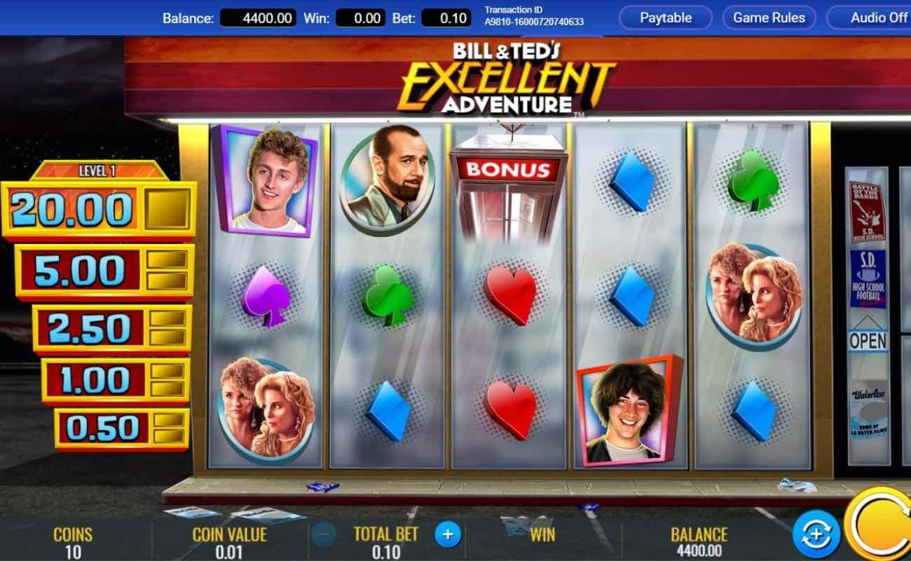 Bill and Ted's Excellent Adventure by IGT online slot casino game