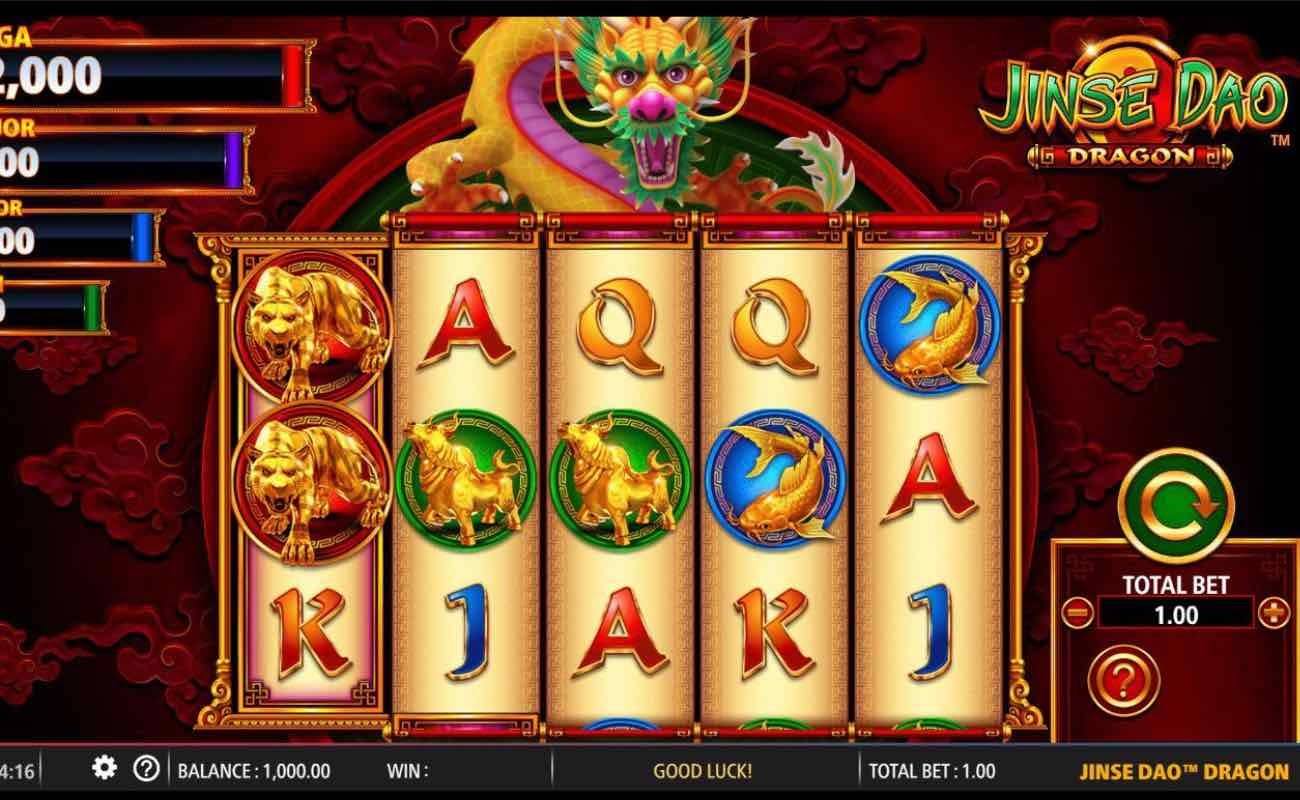 Jinse Dao Dragon by NYX online slot casino game