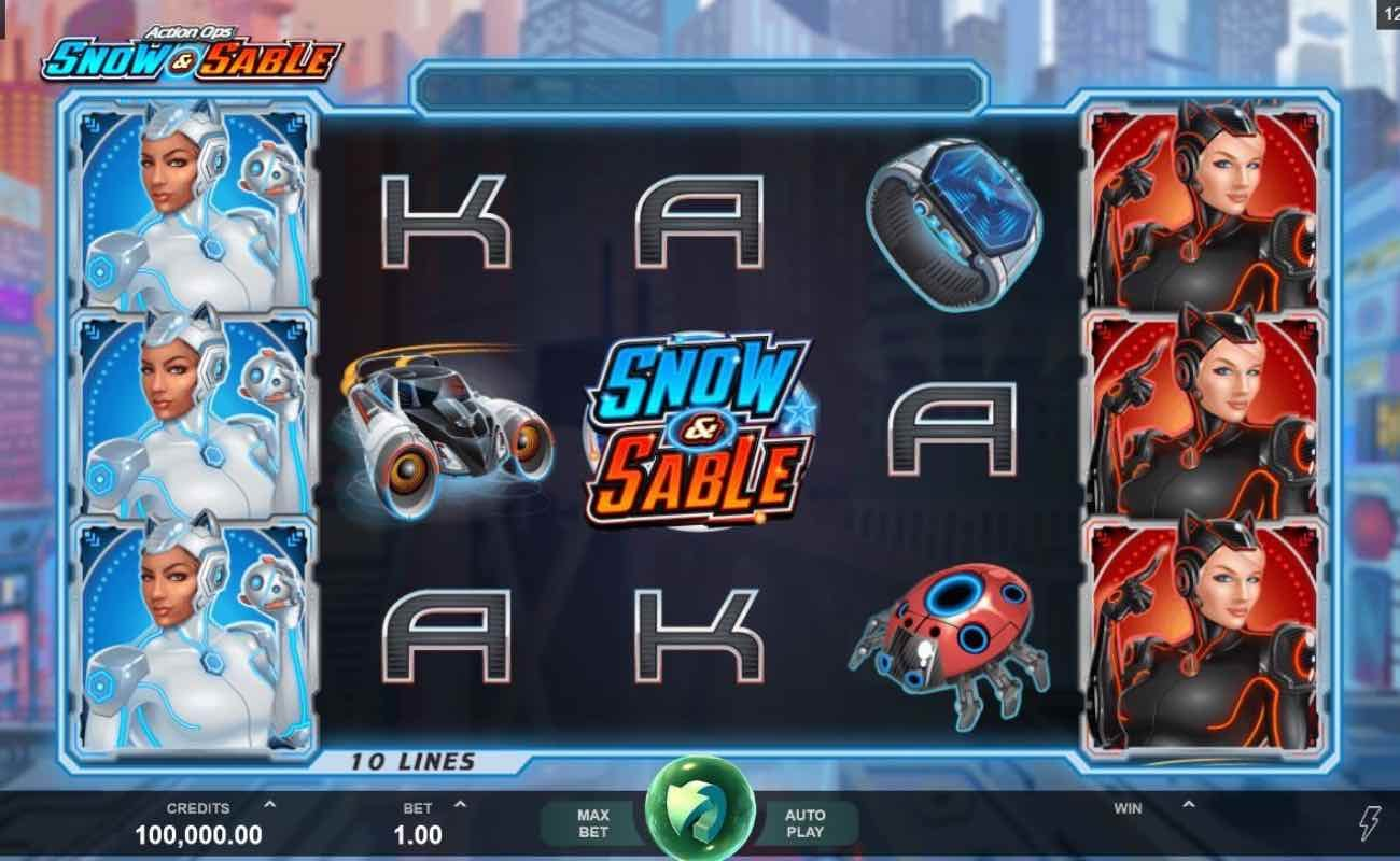 Action Ops; Snow and Sable by DGC online slot casino game