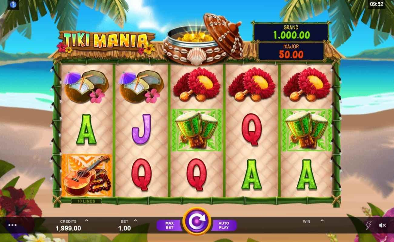 Tiki Mania by DGC online slot casino game