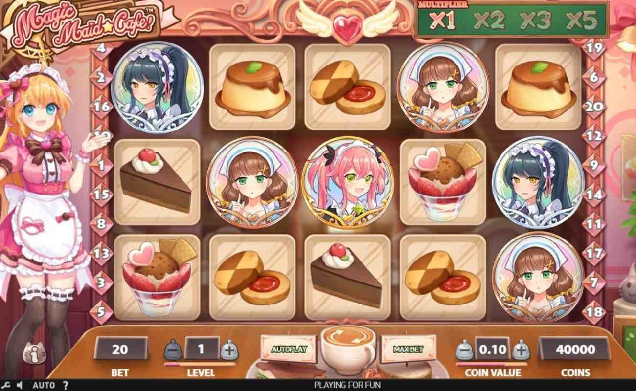 Magic Maid Café by NetEnt online slot casino game