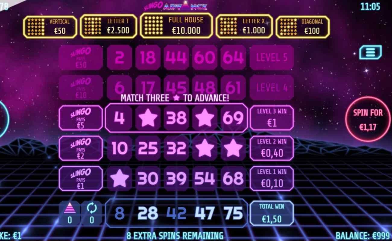 Slingo Advance by Slingo online casino game