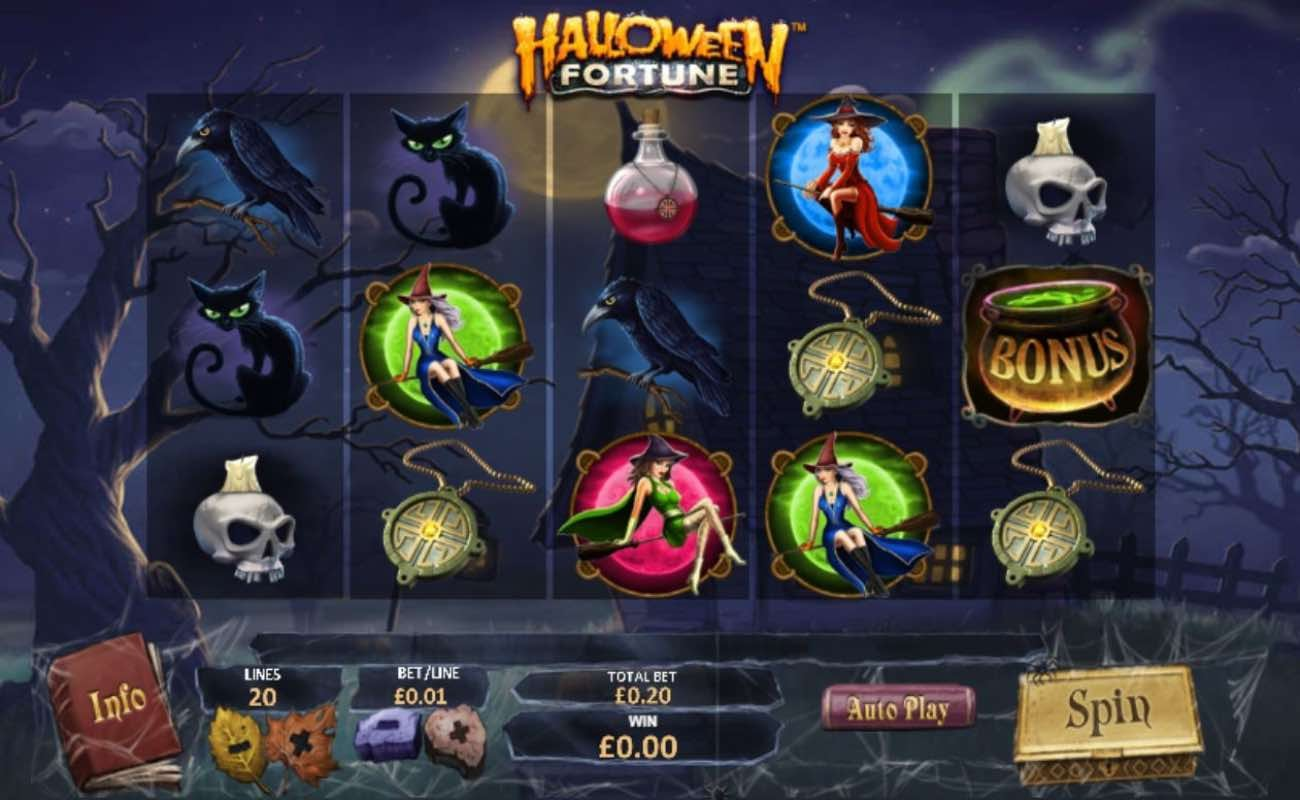 Halloween Fortune online slot casino game by Playtech