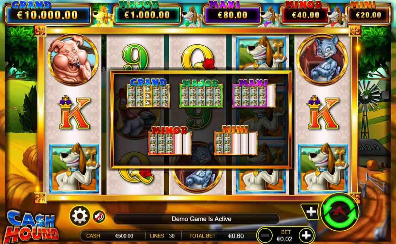 Cash Hound online slot casino game by Ainsworth