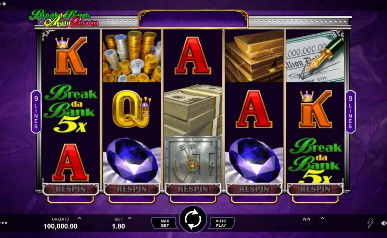 Break Da Bank online slot casino game by DGC