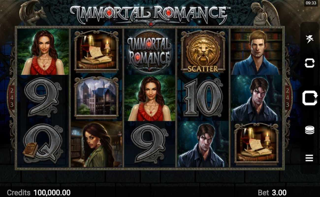 Immortal Romance online slot casino game by DGC