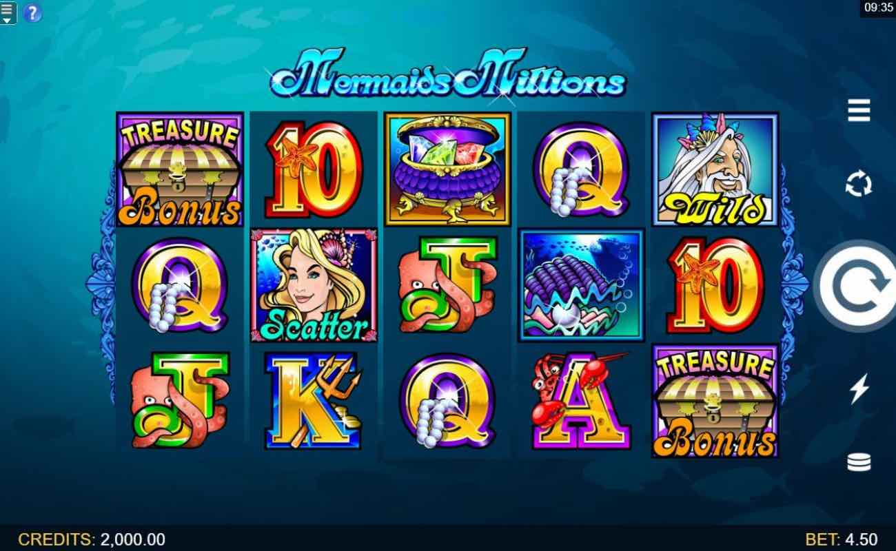 Mermaids Millions online slot casino game by DGC