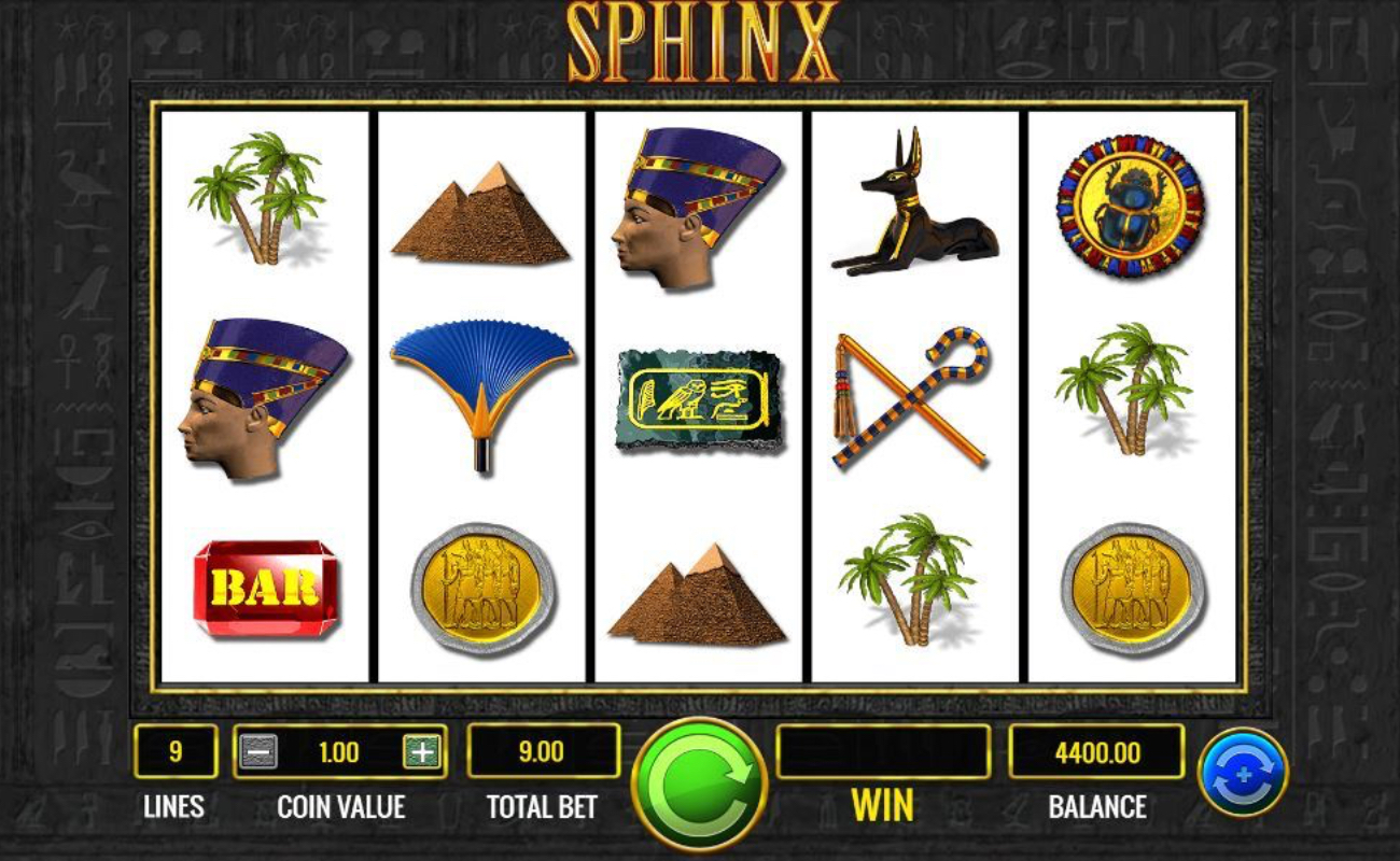 Sphinx online slot casino game by IGT