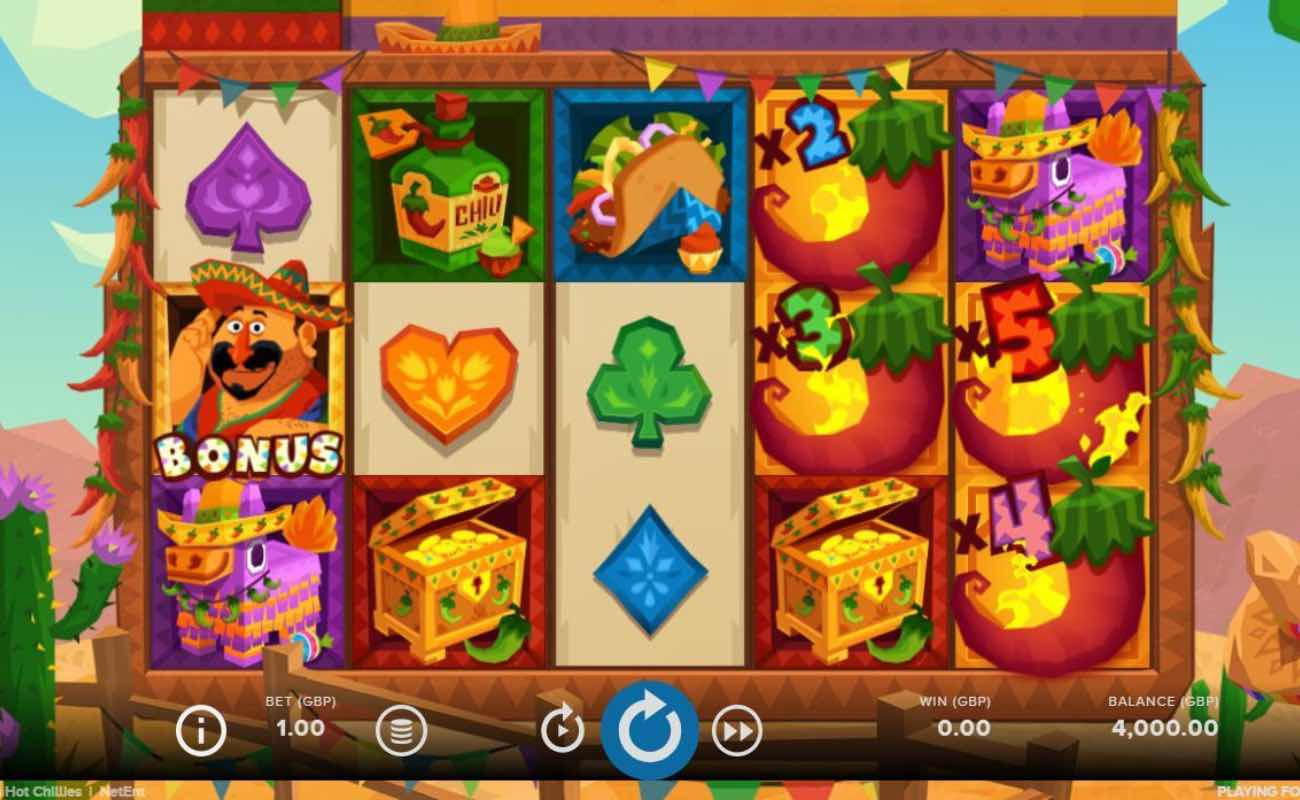 Willy's Hot Chillies online slot casino game by NetEnt