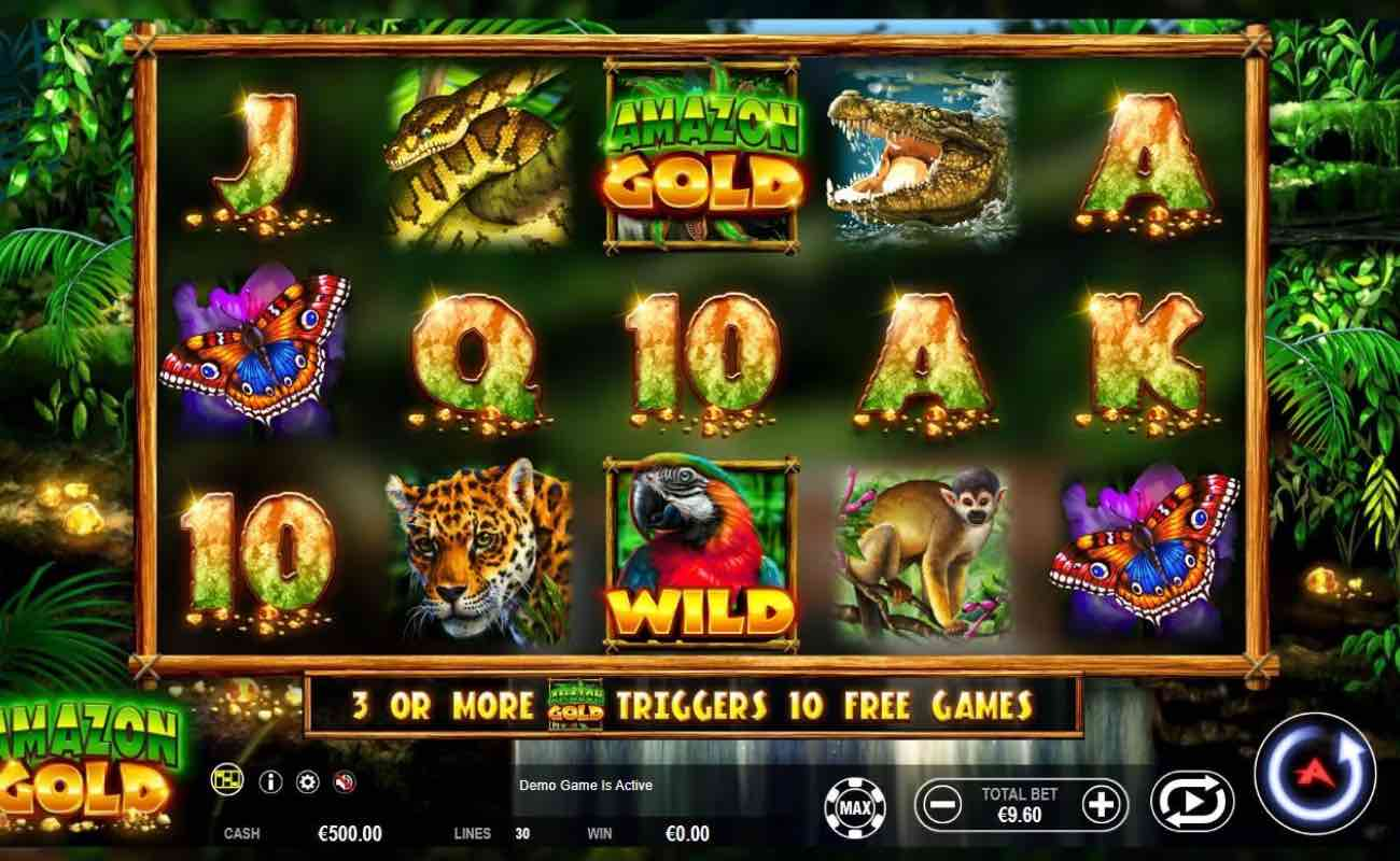 Amazon Gold online slot casino game by Ainsworth