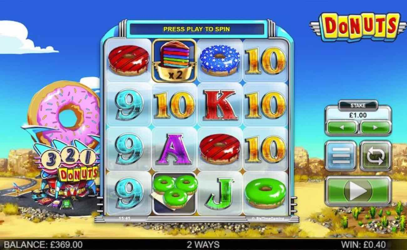 Donuts online slot casino game by BTG (NYX)