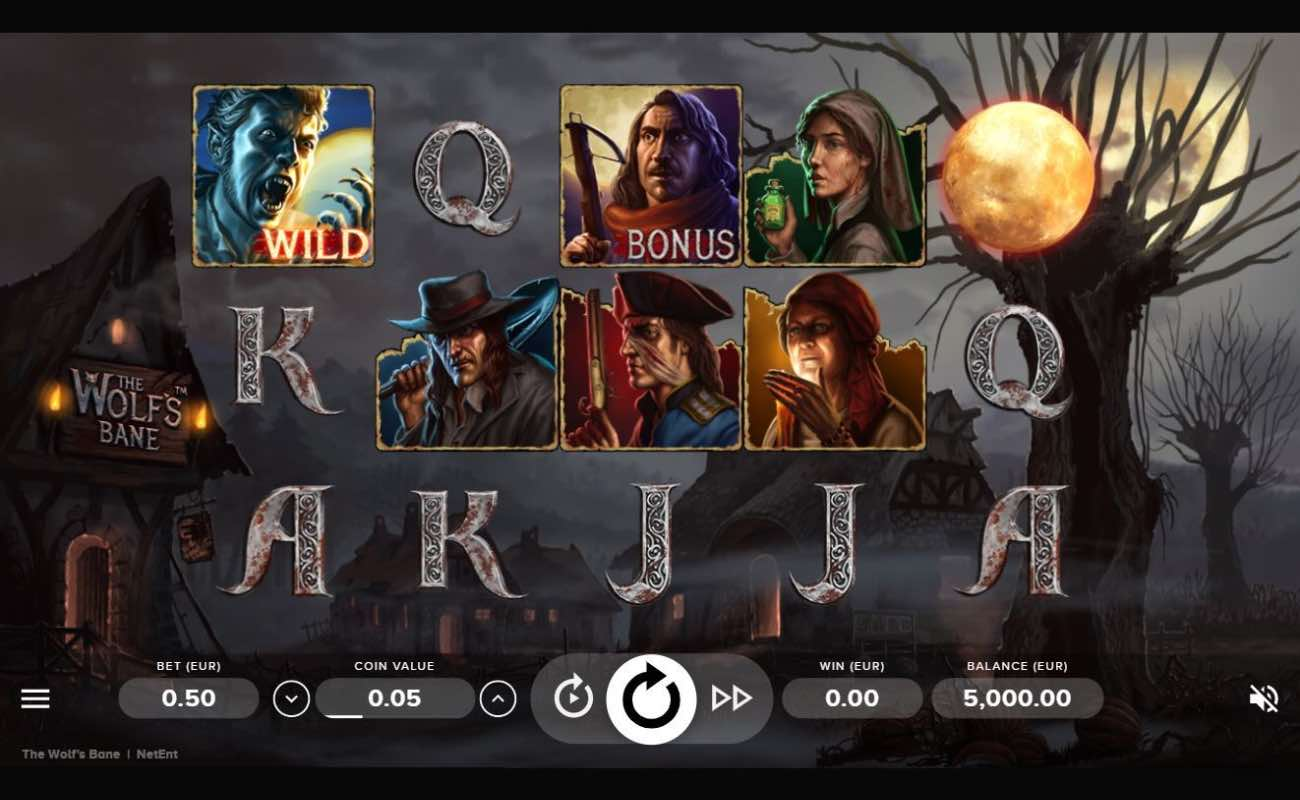 Wolf's Bane online slot casino game by NetEnt