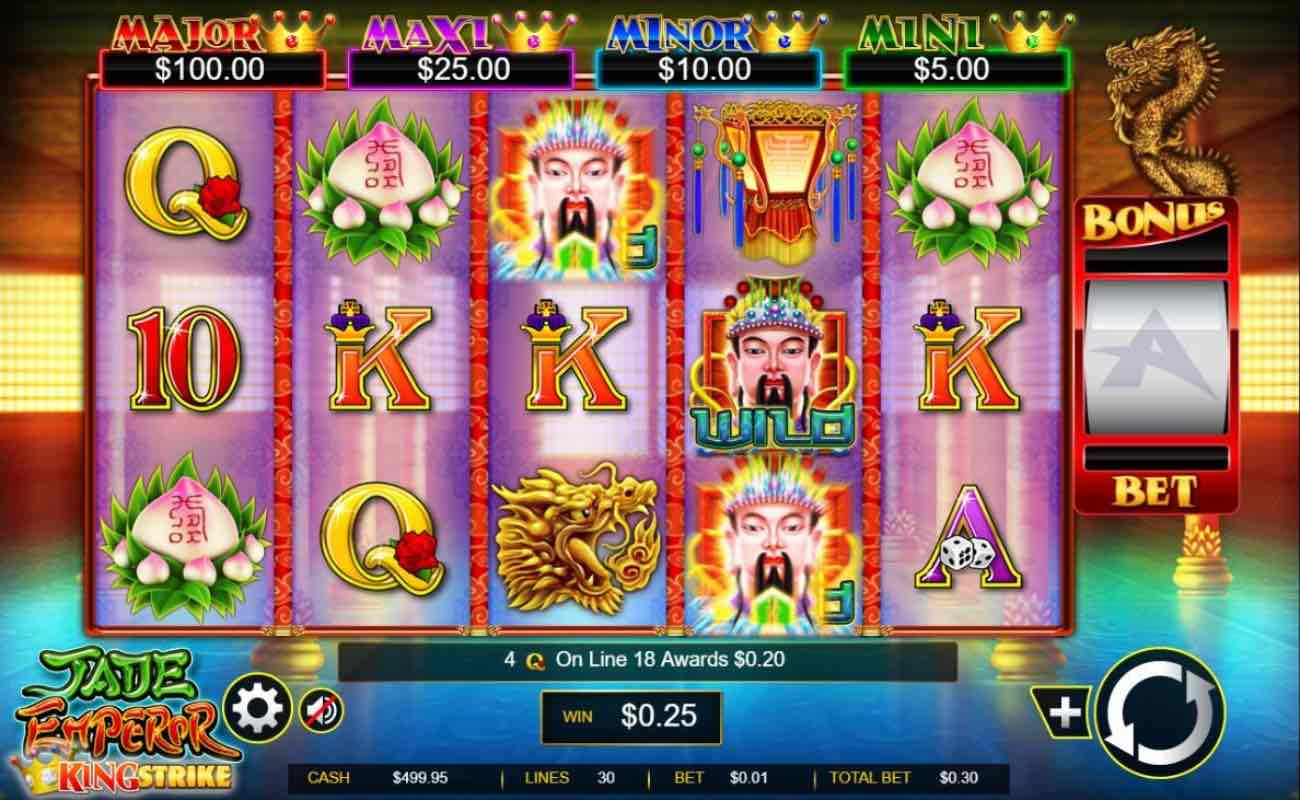 Jade Emperor online slot casino game by Ainsworth