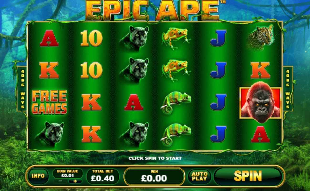 Epic Ape online slot casino game by Playtech