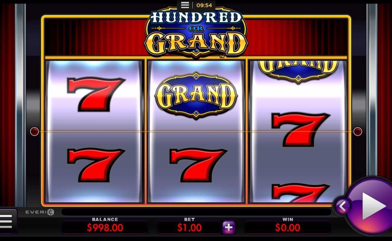 Hundred or Grand online slot casino game by Everi
