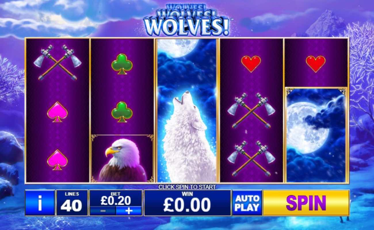 Wolves! Wolves! Wolves! online slot casino game by Playtech
