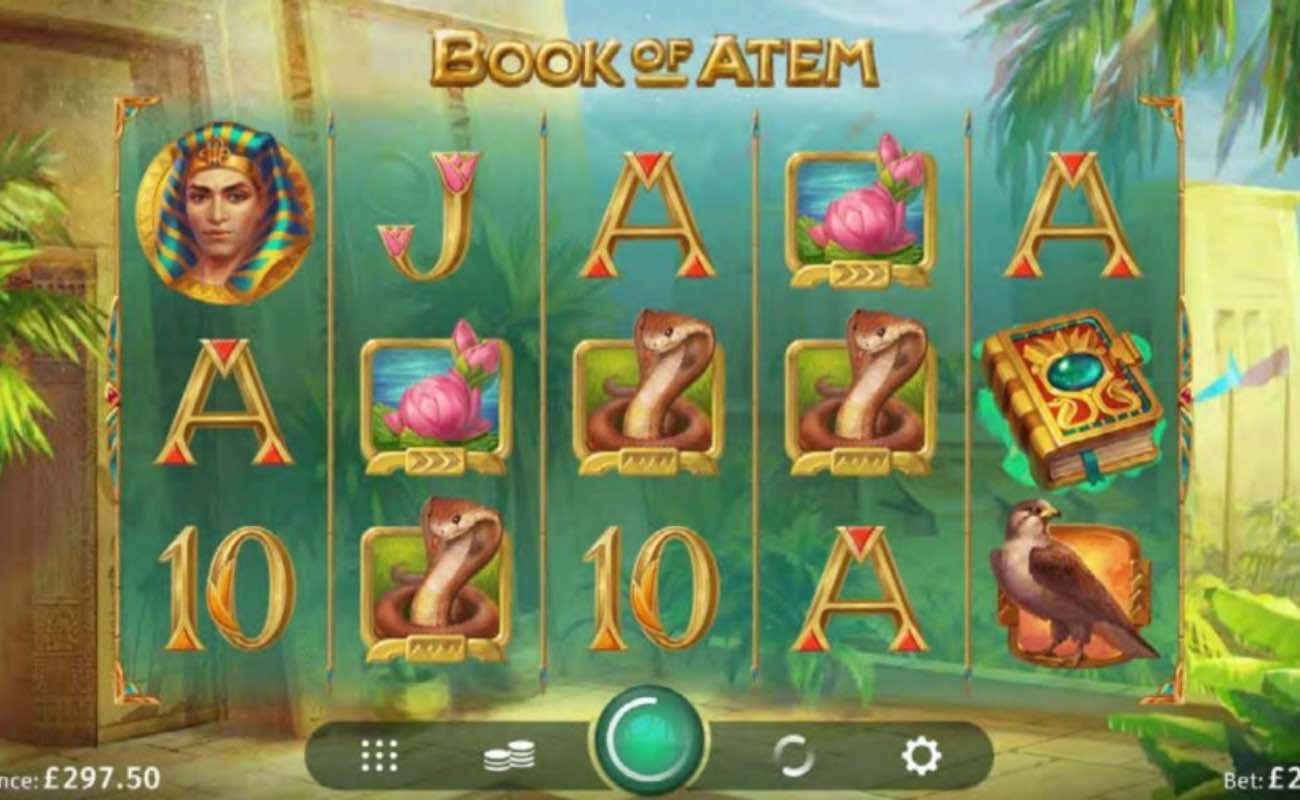 Book of Atem online slot casino game by DGC