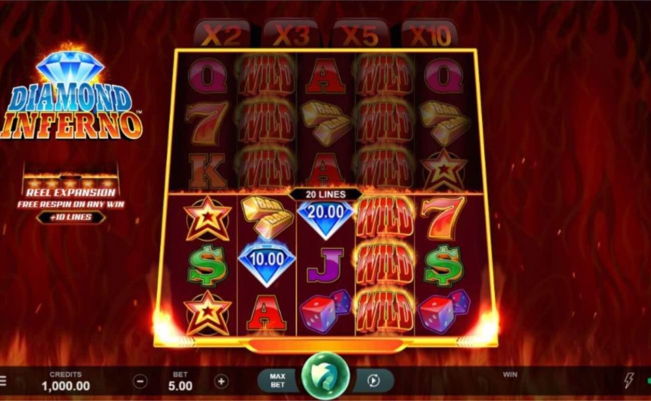 Diamond Inferno online slot casino game by DGC