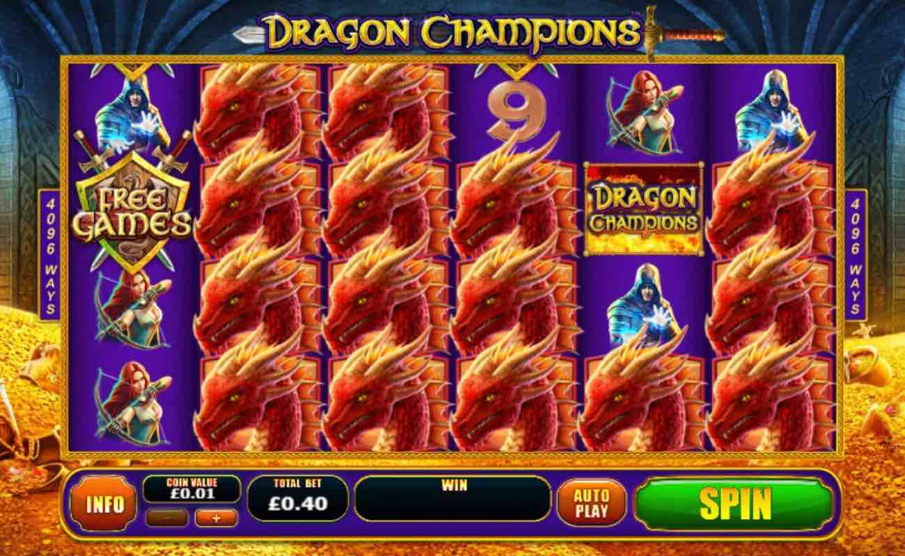 Dragon Champions online slot casino game by Playtech