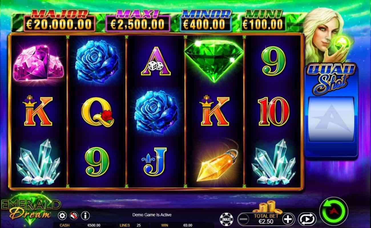 Emerald Dream online slot casino game by Ainsworth