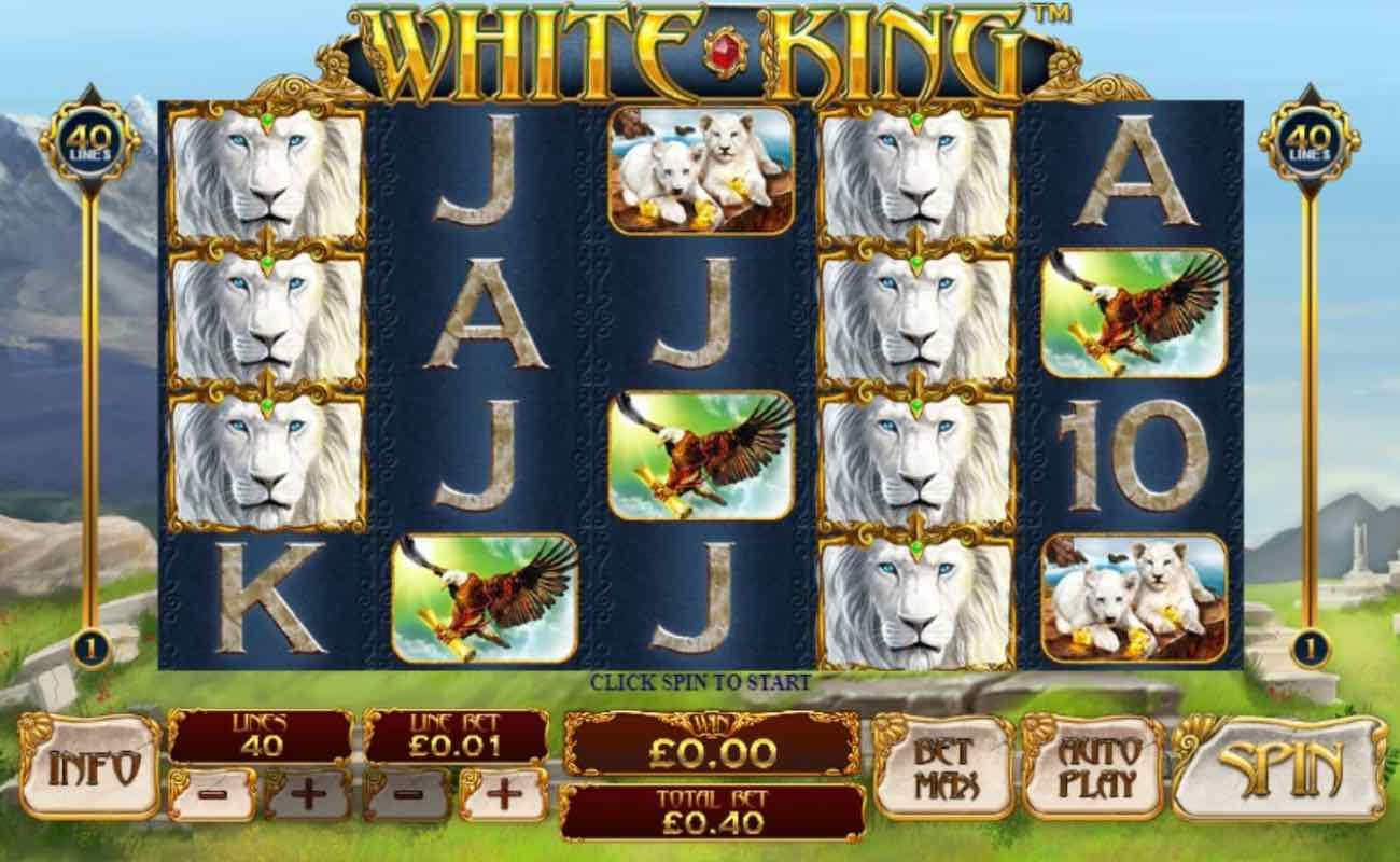White King online slot casino game by Playtech