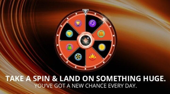 Promotional image for the WPT Online Poker Open promotion of spin the wheel