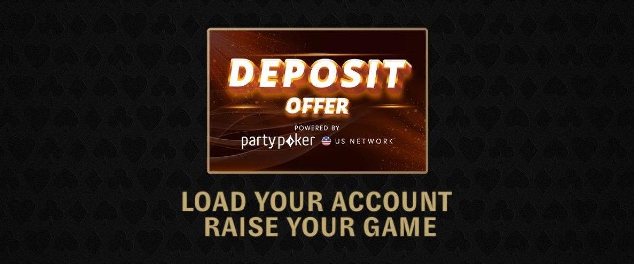 Spanduk penawaran setoran untuk WPT Online Poker Open