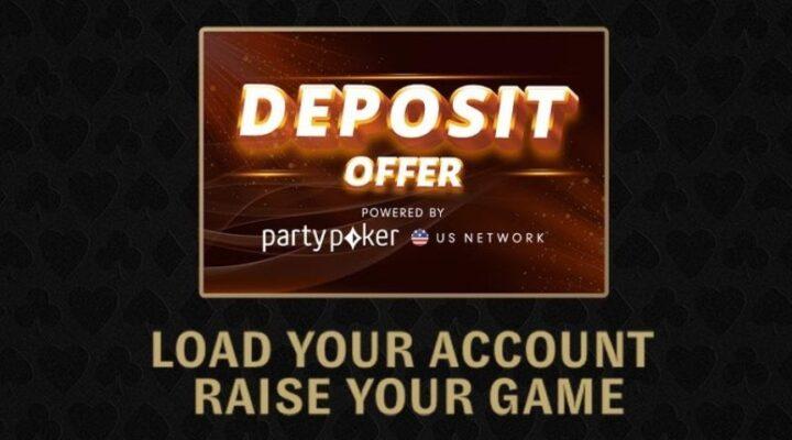 Deposit offer banner for the WPT Online Poker Open