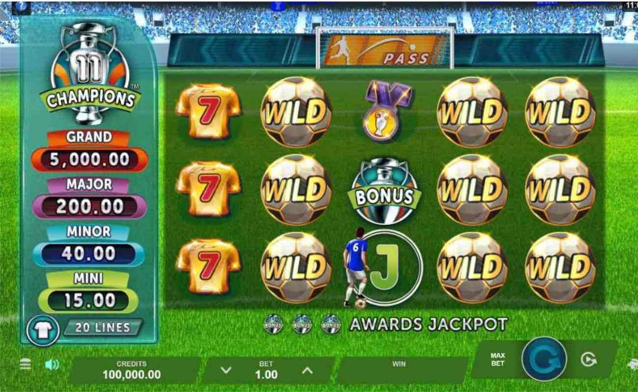 11 Champions online casino slot game by Microgaming