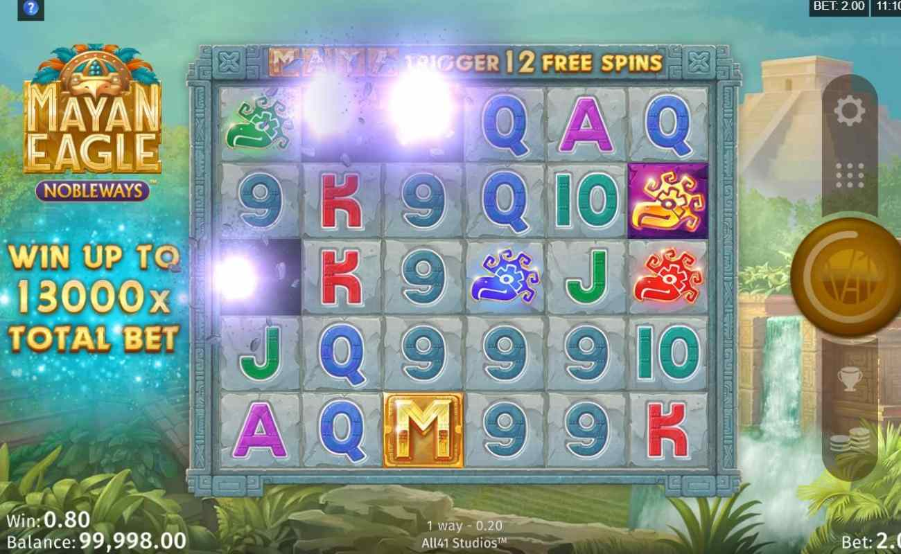 Mayan Eagle online slot casino game by Digital Gaming Corporation