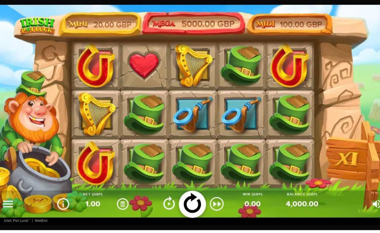 Irish Pot Luck online slots game by Netent