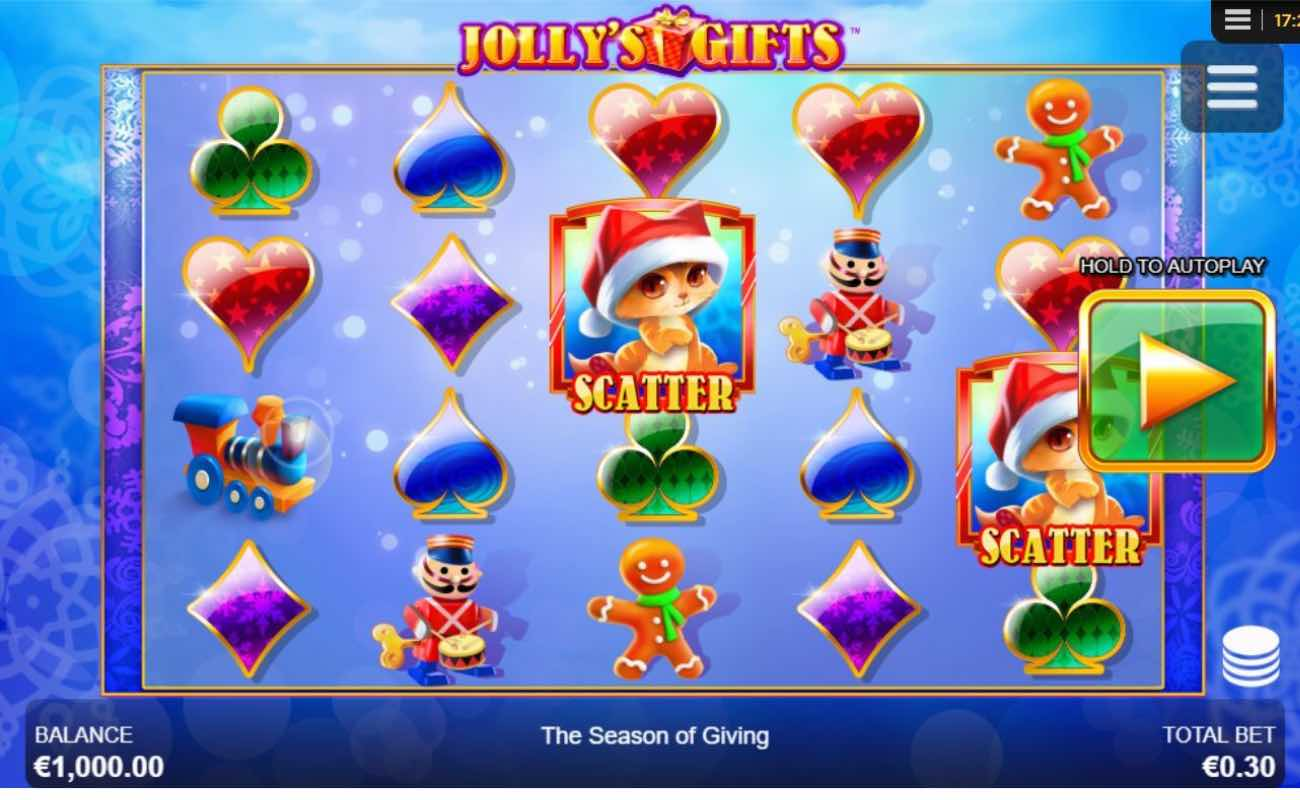 Jolly's Gifts online slots game by NYX