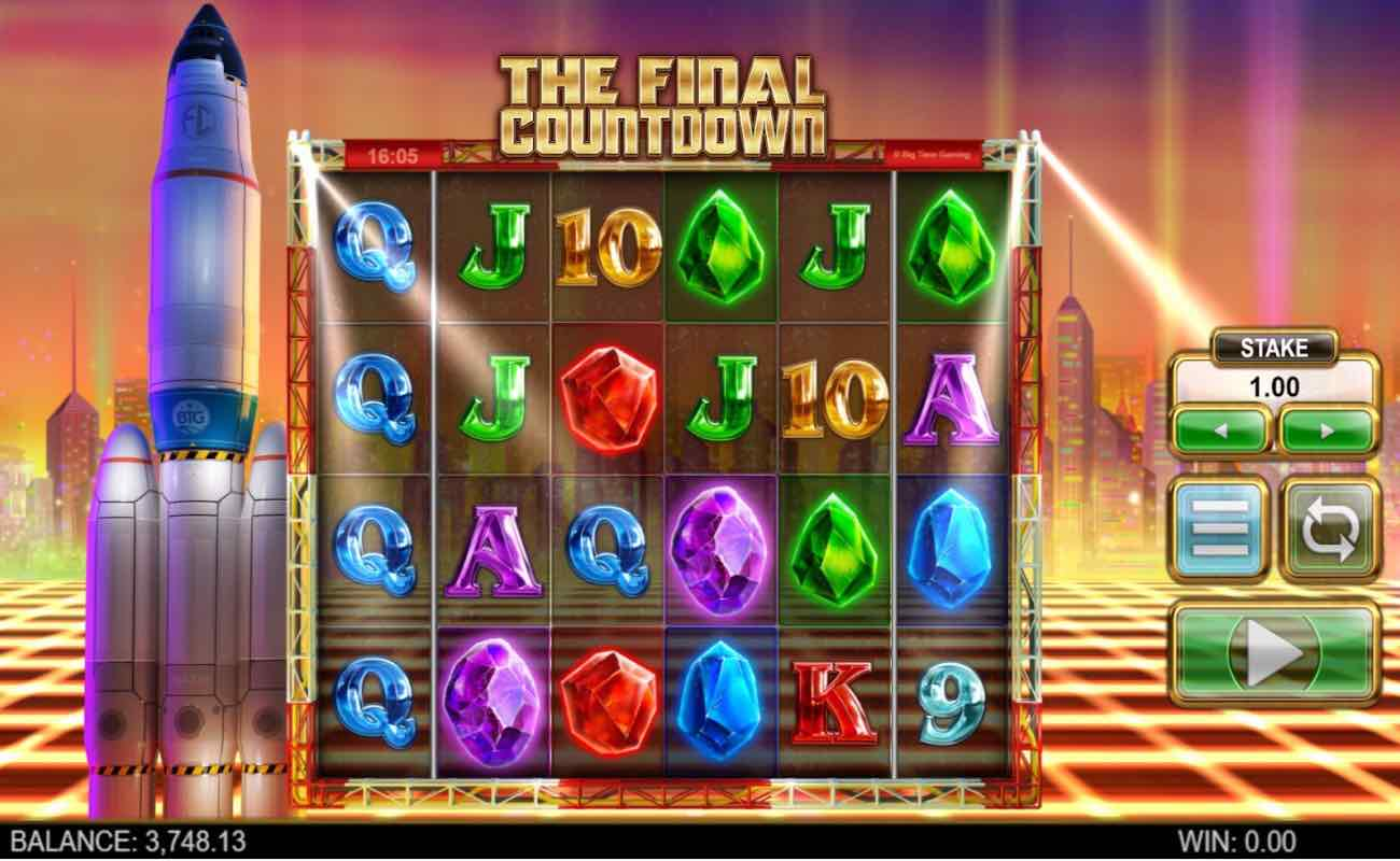 The Final Countdown online slots game by NYX