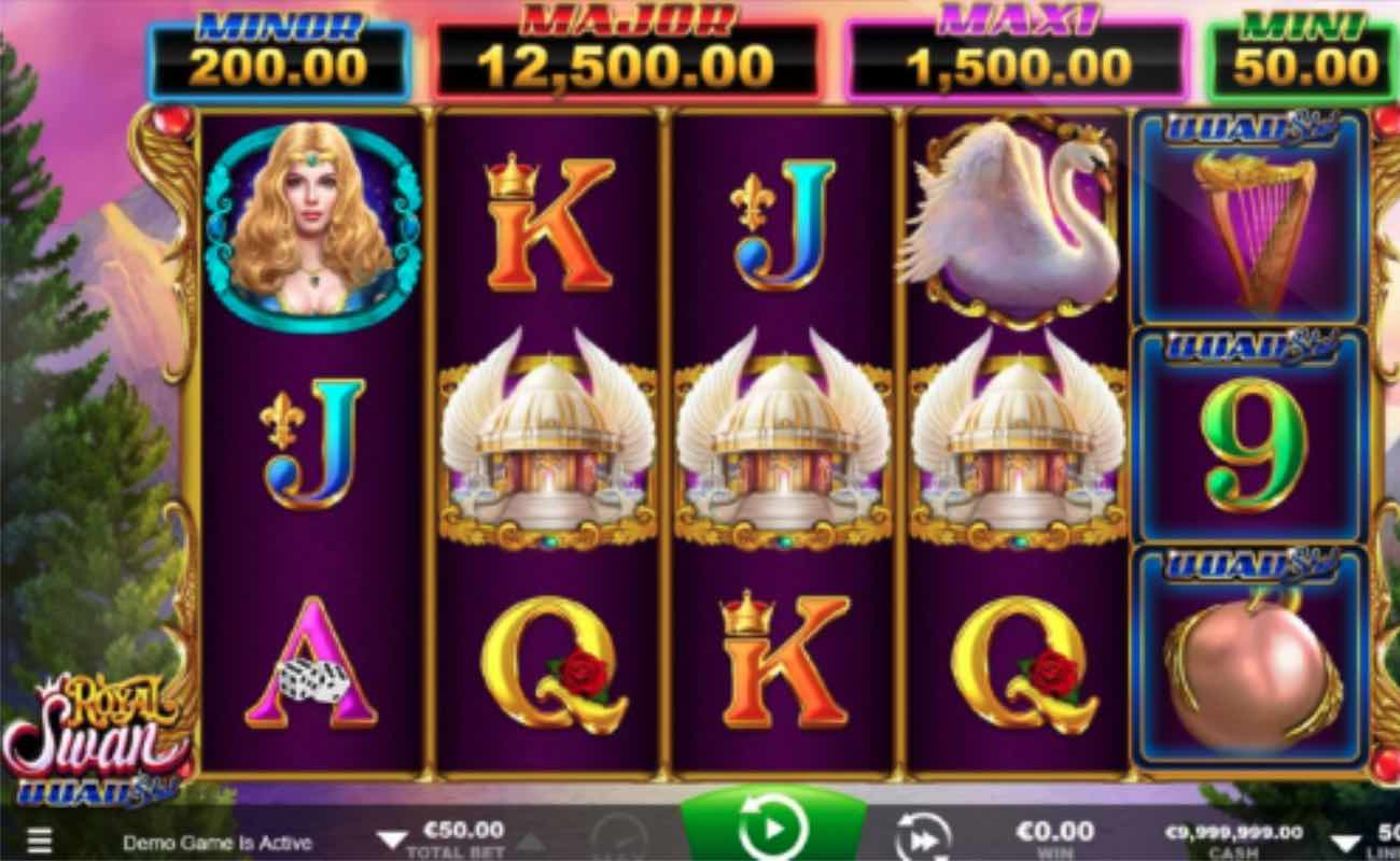 Royal Swan online slot casino game by Ainsworth