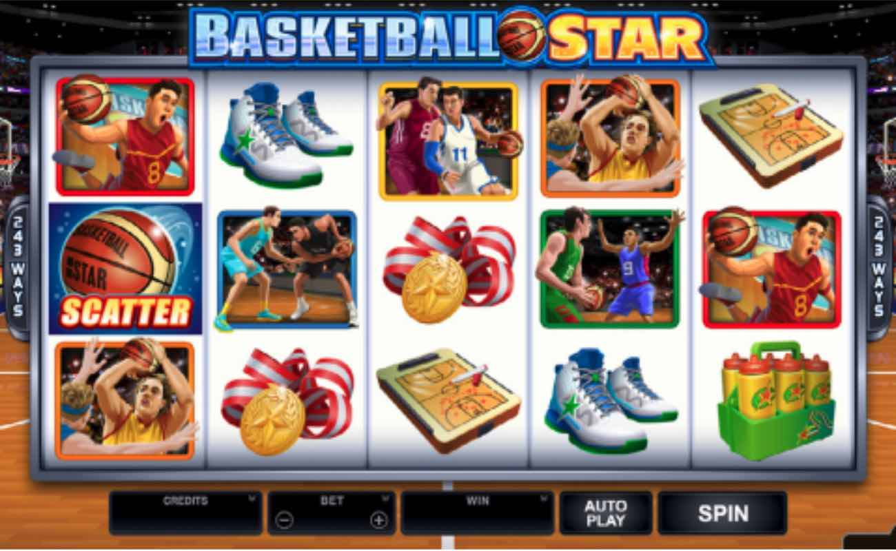Basketball Star online slot casino game by DGC