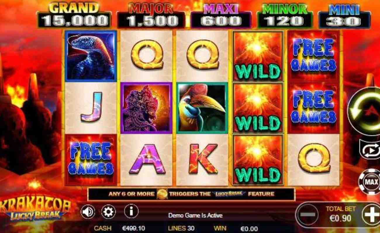 Krakatoa Lucky Break online slot by Ainsworth