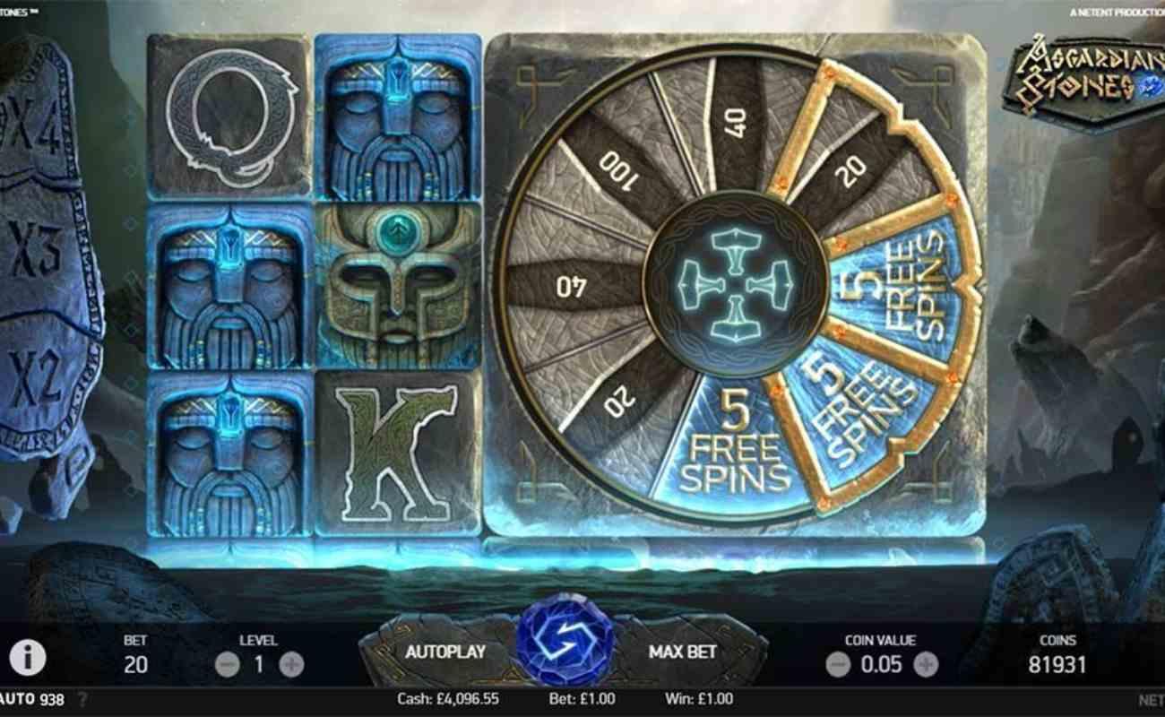 Asgardian Stones online slot by NetEnt