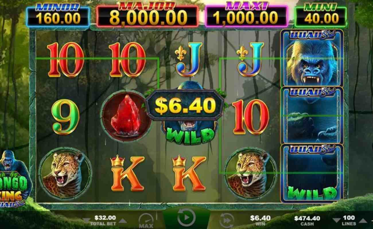 Congo King: Quad Shot online slot by Ainsworth.