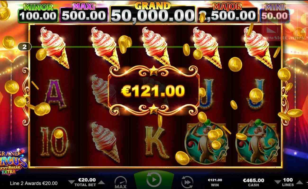 Grand Circus: Lucky Break Extra online slot by Ainsworth.