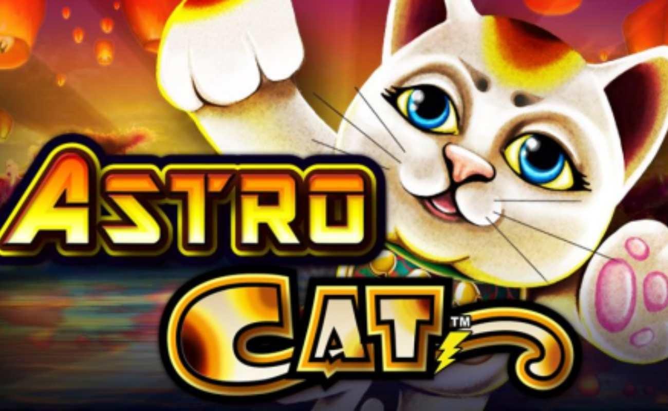Astro Cat online slot by Lightning Box Games.