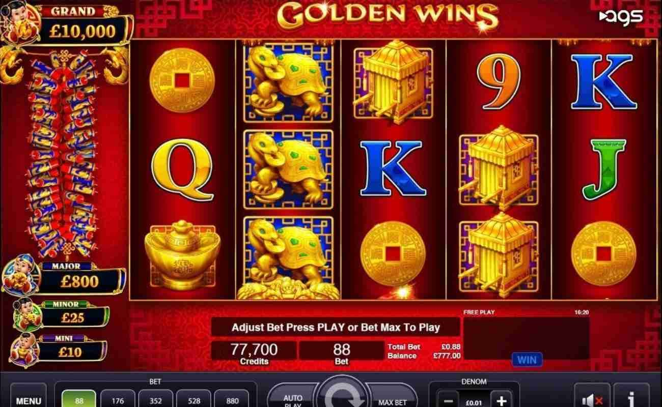 Golden Wins online slot by AGS.
