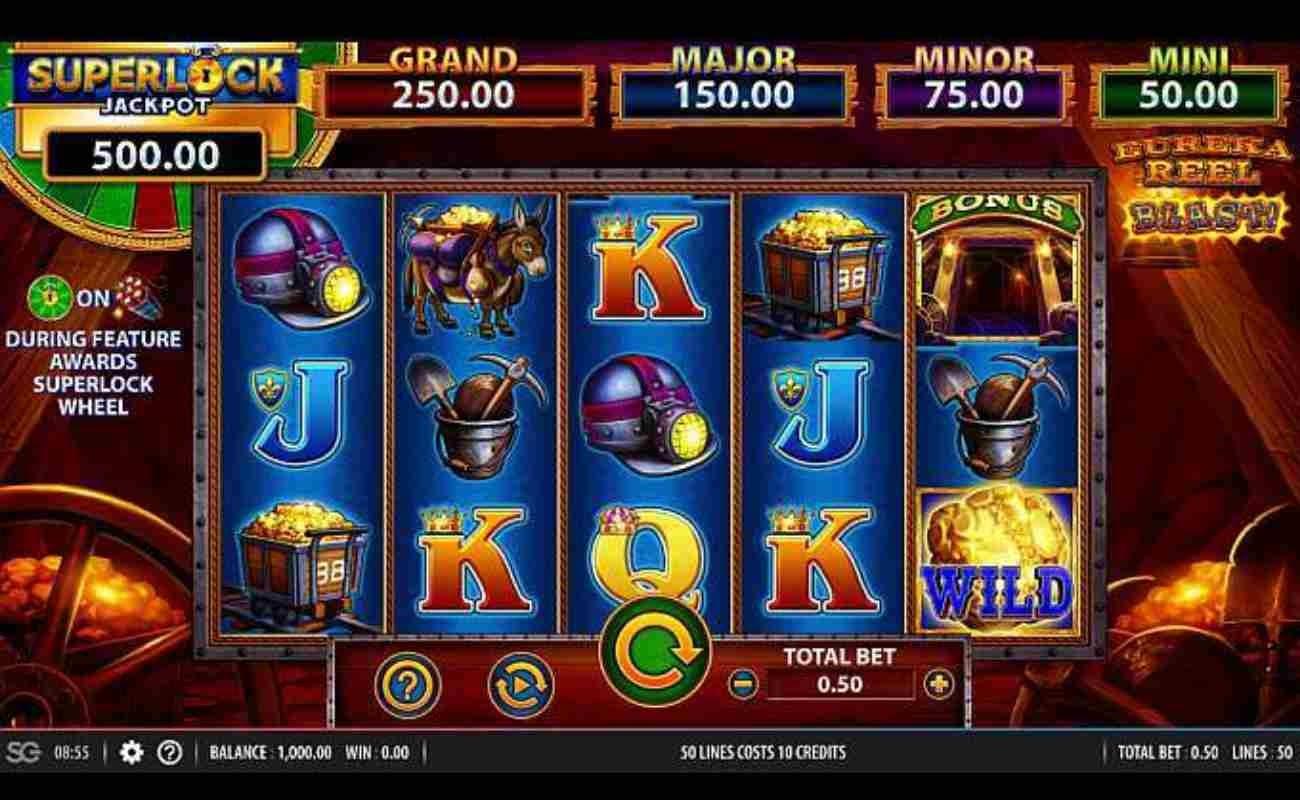 Eureka Reel Blast Superlock online slot by SG Digital (NYX).