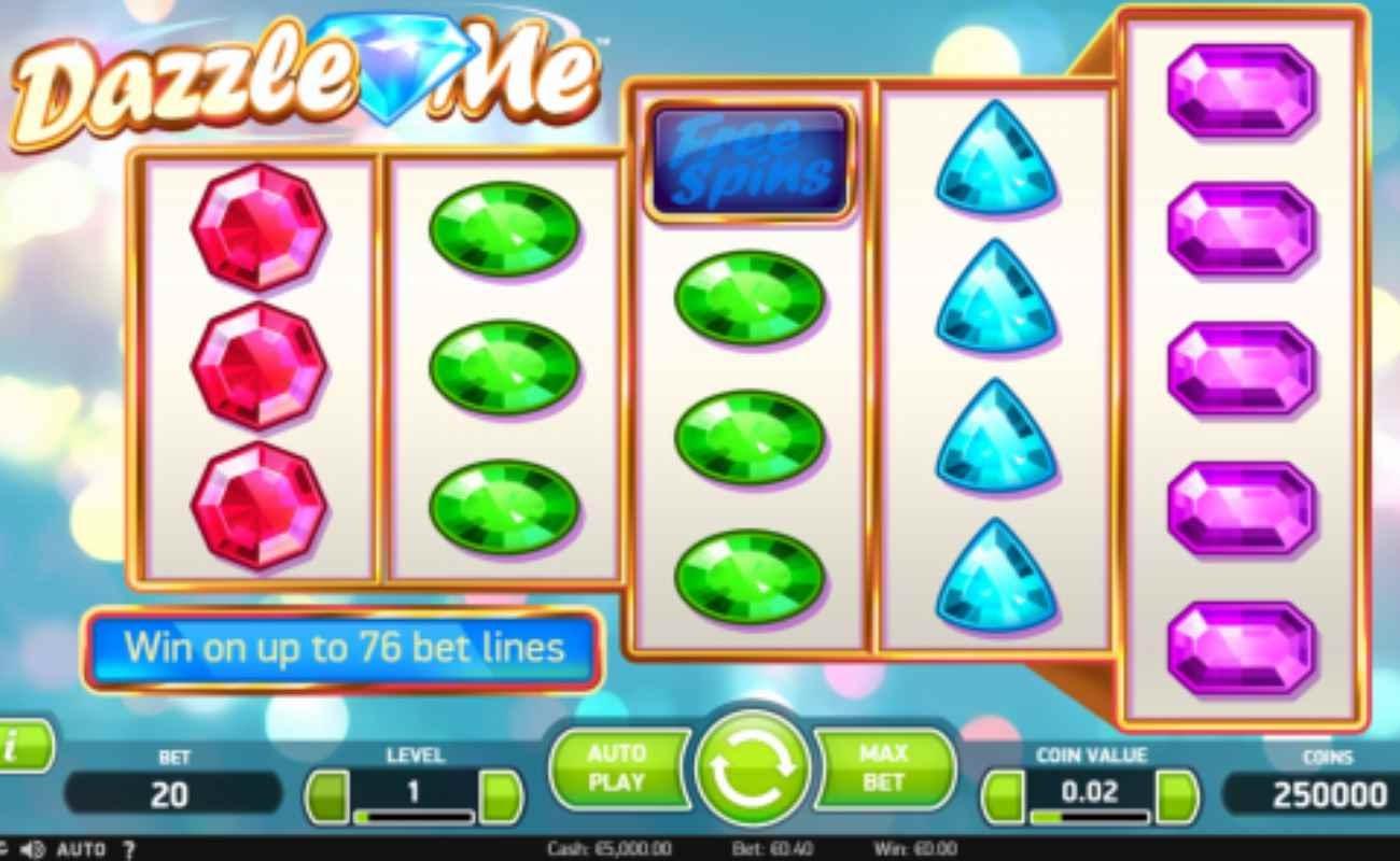 Dazzle Me online slot by NetEnt.