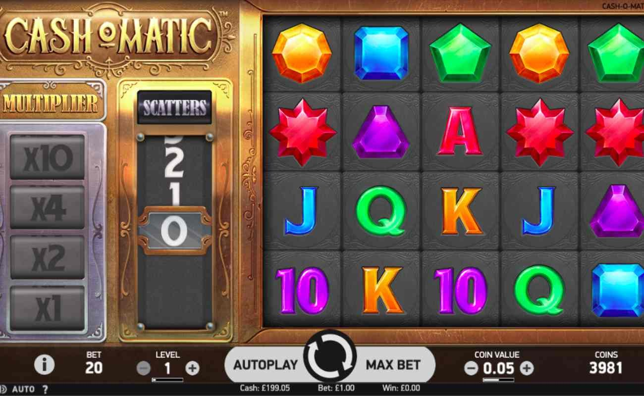 Cash O Matic online slot by NetEnt.