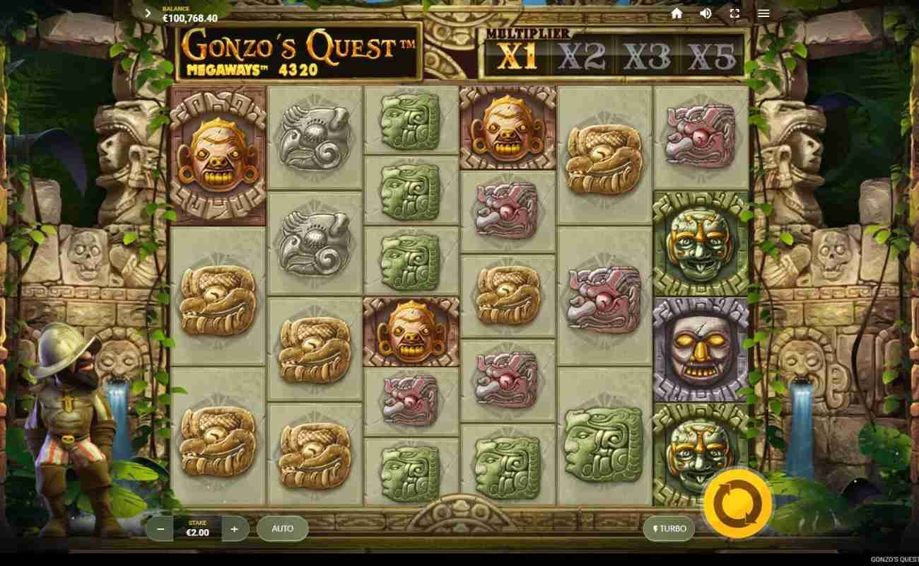 Gonzo's Quest Megaways online slot by Red Tiger.