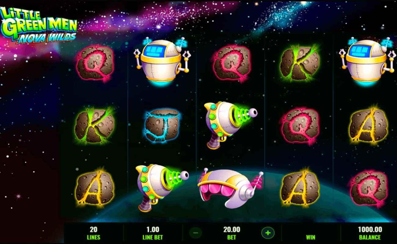 Little Green Men Nova Wilds online slot game by IGT.