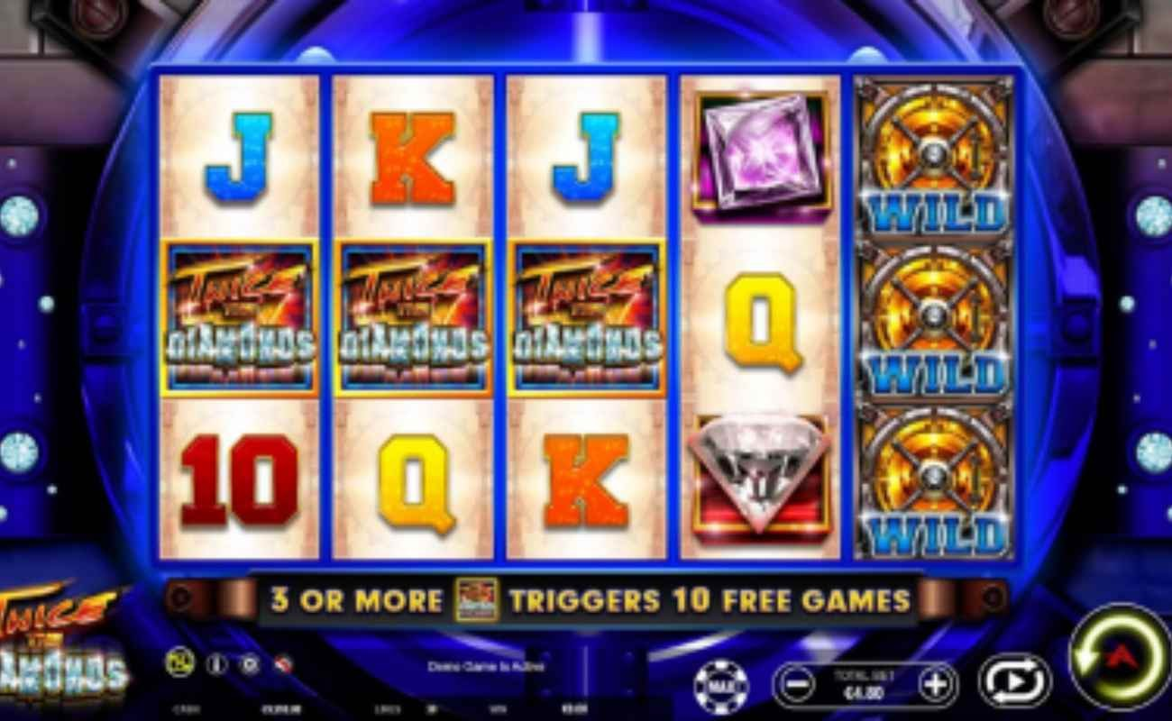 Twice the Diamonds online slot by Ainsworth