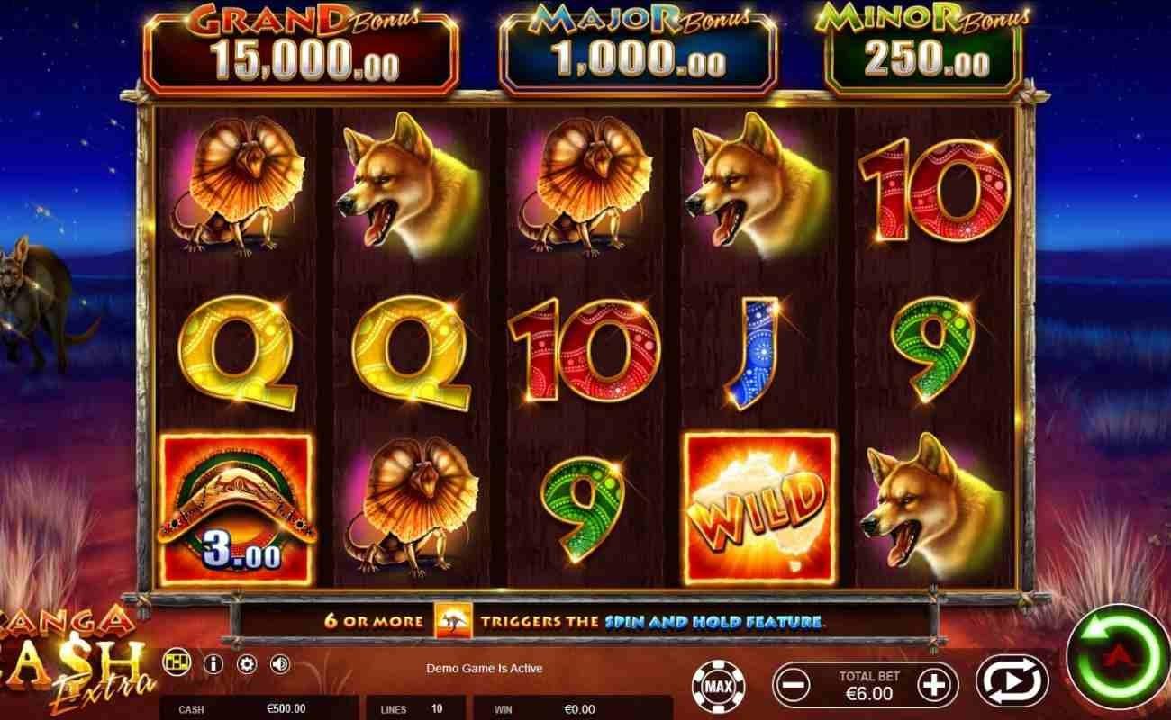 Kanga Cash online slot by Ainsworth.