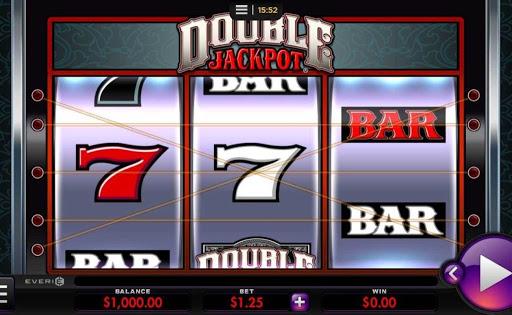 Screenshot of Double Jackpot, an online slot by Everi.