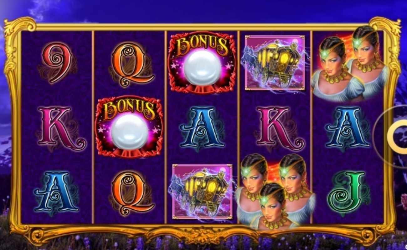 Screenshot of Gypsy 3 Triple Tarot, an online slot by High 5 Games.